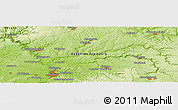 "Physical Panoramic Map of the area around 49° 19' 21"" N, 9° 25' 30"" E"