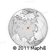 Outline Map of Mörön, rectangular outline