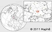 Blank Location Map of Frankfurt