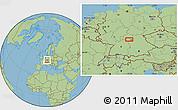 Savanna Style Location Map of Frankfurt
