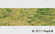 Satellite Panoramic Map of Frankfurt