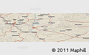 Shaded Relief Panoramic Map of Frankfurt