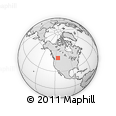 Outline Map of Kimberley, rectangular outline