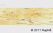 "Physical Panoramic Map of the area around 49° 43' 37"" N, 117° 22' 30"" E"