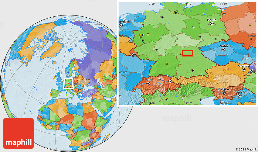 Political Location Map Of Erlangen - Erlangen map
