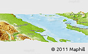 """Physical Panoramic Map of the area around 49°43'37""""N,124°52'30""""W"""