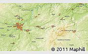 Physical 3D Map of Přeštice