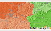 Political 3D Map of Přeštice