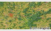 Satellite 3D Map of Přeštice
