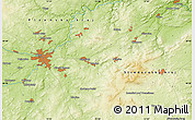 """Physical Map of the area around 49°43'37""""N,13°40'30""""E"""