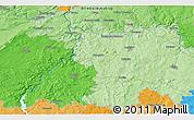 Political 3D Map of Velké Popovice
