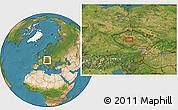 Satellite Location Map of Sedlčany