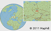 Savanna Style Location Map of Vysoký Chlumec
