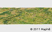 Satellite Panoramic Map of Čerčany