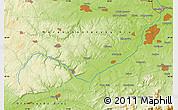 """Physical Map of the area around 49°43'37""""N,17°55'29""""E"""