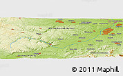 Physical Panoramic Map of Metylovice