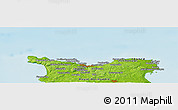 Physical Panoramic Map of Cherbourg