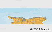 Political Panoramic Map of Cherbourg