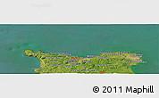 Satellite Panoramic Map of Cherbourg