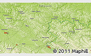 """Physical 3D Map of the area around 49°43'37""""N,22°10'29""""E"""