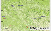 """Physical Map of the area around 49°43'37""""N,22°10'29""""E"""