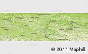 """Physical Panoramic Map of the area around 49°43'37""""N,22°10'29""""E"""