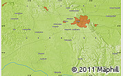 """Physical Map of the area around 49°43'37""""N,23°52'30""""E"""