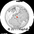 Outline Map of Kozyatyn, rectangular outline