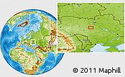 Physical Location Map of Bila Tserkva