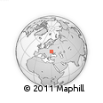 Outline Map of Bila Tserkva, rectangular outline