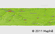 Physical Panoramic Map of Amiens