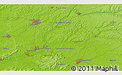 """Physical 3D Map of the area around 49°43'37""""N,3°28'30""""E"""