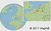 "Savanna Style Location Map of the area around 49°43'37""N,3°28'30""E"