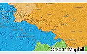 Political 3D Map of Virton