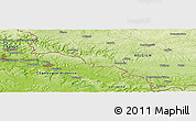 Physical Panoramic Map of Raucourt-et-Flaba