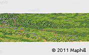 Satellite Panoramic Map of Daigny