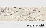 Shaded Relief Panoramic Map of Flize