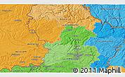 Political 3D Map of Aubange