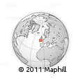 """Outline Map of the Area around 49° 43' 37"""" N, 8° 25' 30"""" W, rectangular outline"""