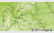 """Physical 3D Map of the area around 49°43'37""""N,9°25'30""""E"""