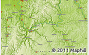 """Physical Map of the area around 49°43'37""""N,9°25'30""""E"""