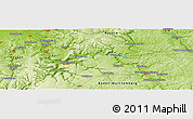 """Physical Panoramic Map of the area around 49°43'37""""N,9°25'30""""E"""