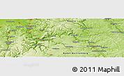 Physical Panoramic Map of Höpfingen