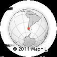 Outline Map of El Chaltén, rectangular outline