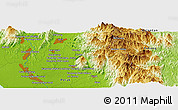 "Physical Panoramic Map of the area around 4° 22' 30"" N, 101° 13' 29"" E"