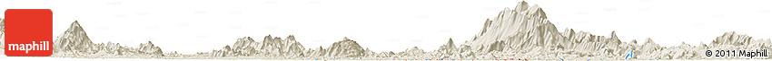 Shaded Relief Horizon Map of Kuala Lipis
