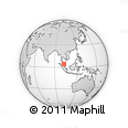 Outline Map of Kuala Lipis, rectangular outline