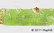Physical Panoramic Map of Kuala Lipis