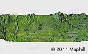 Satellite Panoramic Map of Kuala Lipis