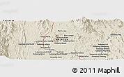 Shaded Relief Panoramic Map of Kuala Lipis